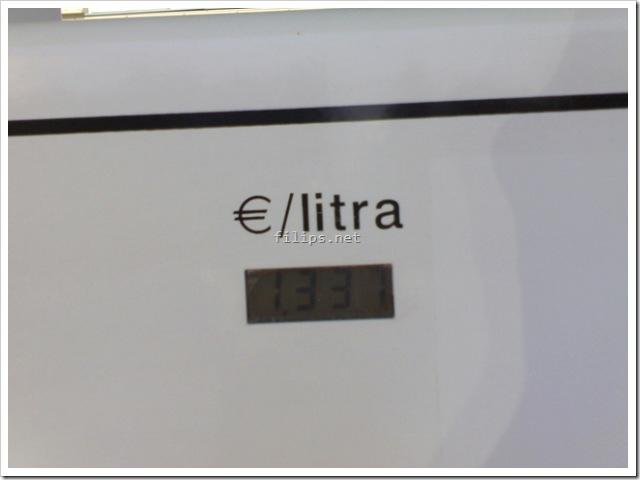 1337 Euros per liter